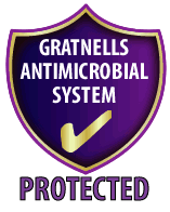 Gratnells shield for antimicrobial protection